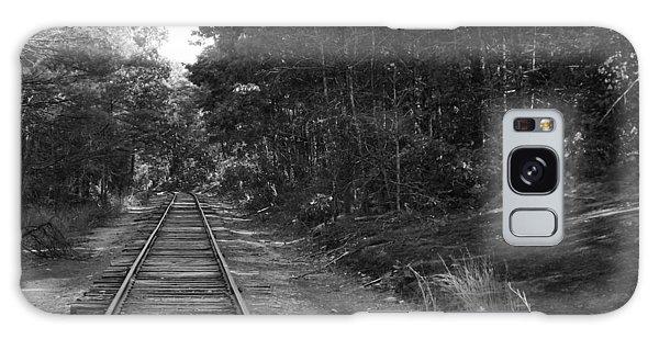 Bw Railroad Track To Somewhere Galaxy Case