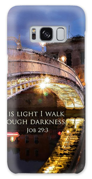 By His Light I Walk Galaxy Case