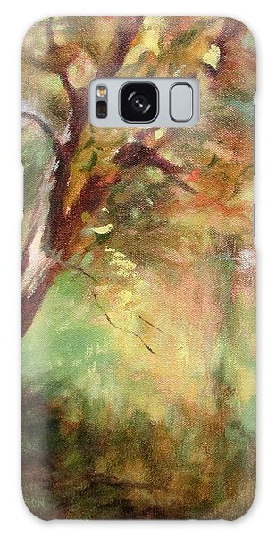 By The Greenway In Autumn- Along The Roanoke River Galaxy Case by Bonnie Mason
