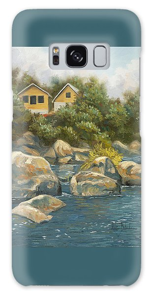 Scenery Galaxy Case - By The River by Lucie Bilodeau