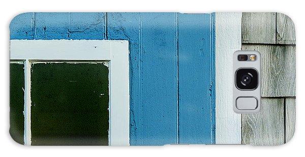 Old Door In Blue Galaxy Case