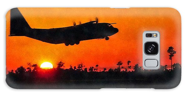 C-130 Sunset Galaxy Case by Paul Fearn