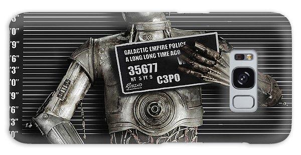 C-3po Mug Shot Galaxy Case by Tony Rubino