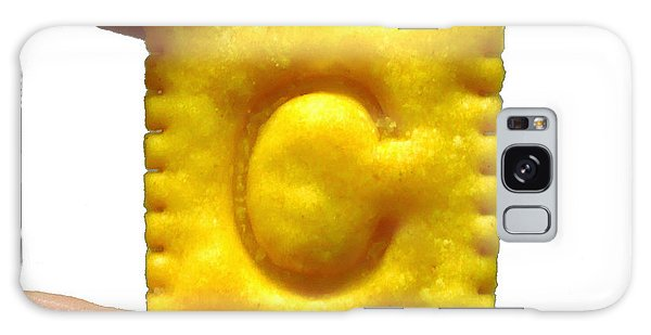 C For Cheese Cracker Galaxy Case by Pete Trenholm