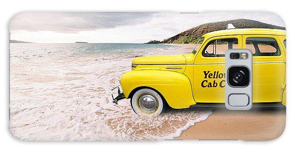 New York City Taxi Galaxy Case - Cab Fare To Maui by Edward Fielding