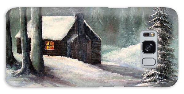 Cabin In The Woods Galaxy Case by Hazel Holland