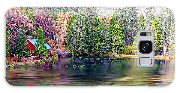 Cabin On The Lake Galaxy Case