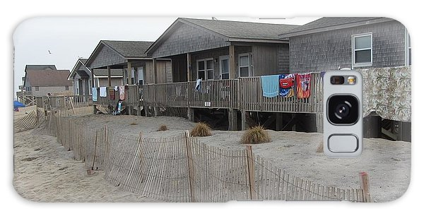 Cabins On Buxton Beach Galaxy Case by Cathy Lindsey