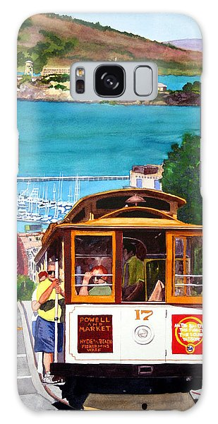 Cable Car No. 17 Galaxy Case by Mike Robles