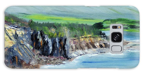 Cabot Trail Coastline Galaxy Case by Michael Daniels