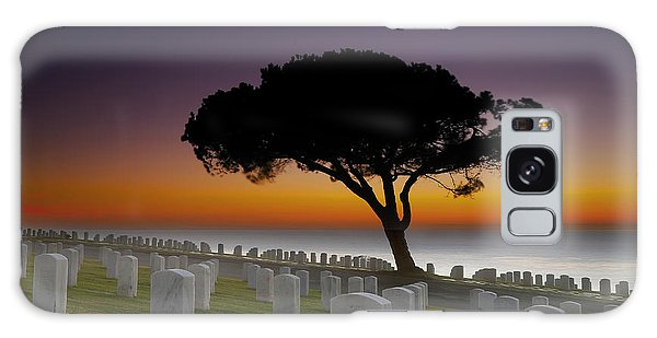 Cemetery Galaxy Case - Cabrillo National Monument Cemetery by Larry Marshall