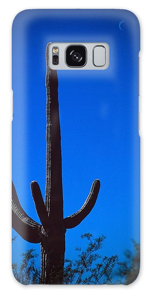Cactus And Moon Galaxy Case