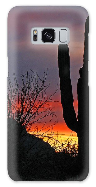 Cactus At Sunset Galaxy Case