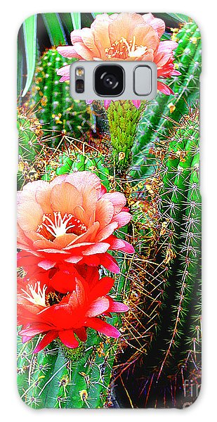 Cactus Blooming Arizona Desert Galaxy Case