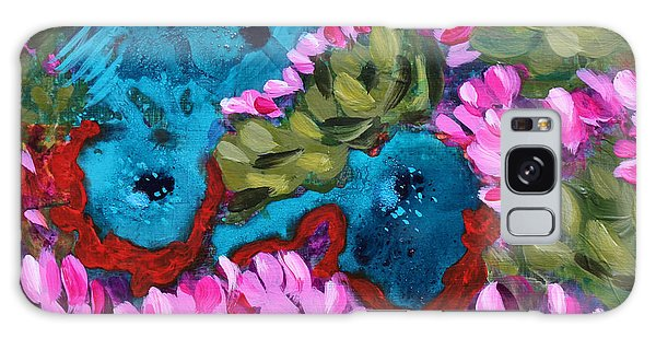 Cactus Flower Blue Bird Dream Galaxy Case