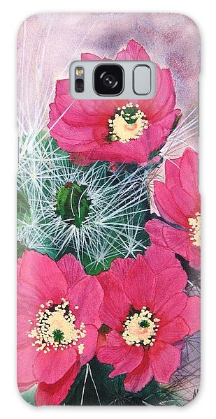 Cactus Flowers I Galaxy Case by Mike Robles