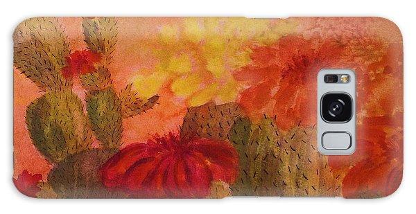Cactus Garden - Square Format Galaxy Case by Ellen Levinson