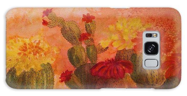 Cactus Garden Galaxy Case by Ellen Levinson