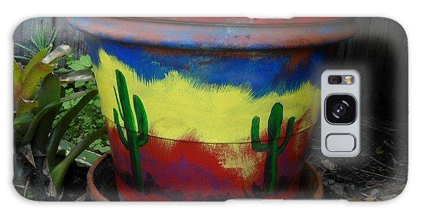 Cactus Garden II Galaxy Case by Val Oconnor