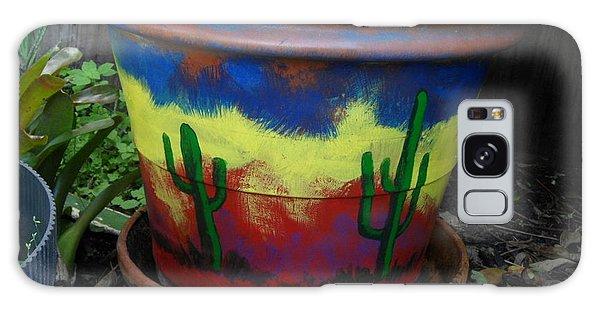 Cactus Garden IIi Galaxy Case by Val Oconnor