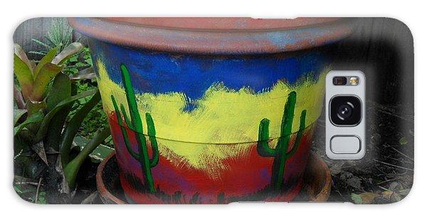 Cactus Garden Iv Galaxy Case by Val Oconnor