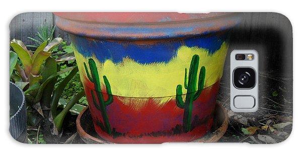 Cactus Garden  Galaxy Case by Val Oconnor