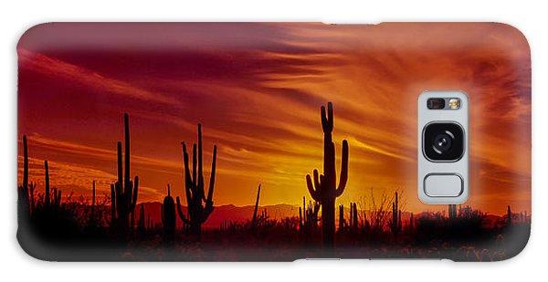 Cactus Glow Galaxy Case