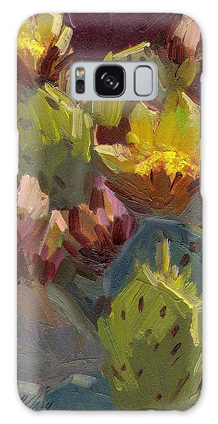 Cactus In Bloom 1 Galaxy Case by Diane McClary