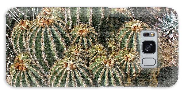 Cactus In The Garden Galaxy Case by Tom Janca