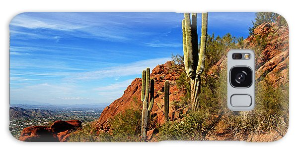 Cactus On Camelback Galaxy Case by Daniel Woodrum