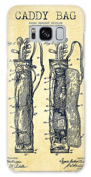 Golf Galaxy S8 Case - Caddy Bag Patent Drawing From 1905 - Vintage by Aged Pixel