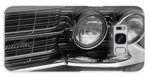 Cadillac Grill And Lights B/w Galaxy Case by Mick Flynn