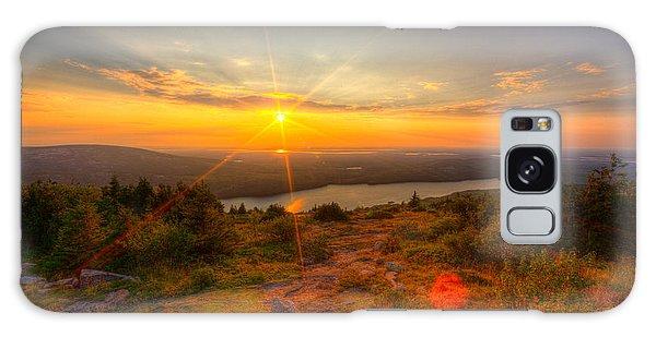 Cadillac Mountain Sunset Acadia National Park Bar Harbor Maine Galaxy Case