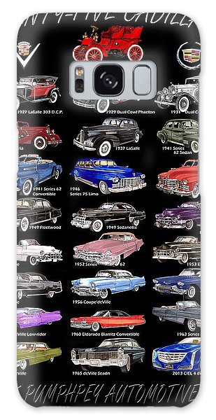 25 Cadillacs In A Poster  Galaxy Case