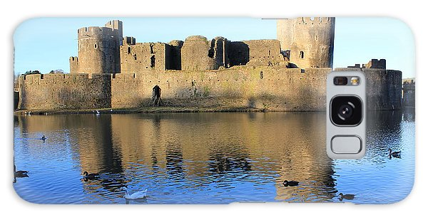 Caerphilly Castle Galaxy Case by Vicki Spindler