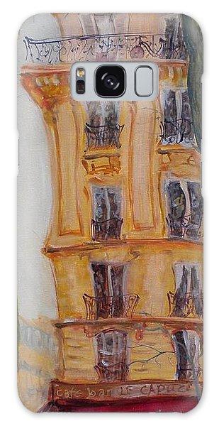 Street Cafe Galaxy Case - Cafe Bar La Cappuccino, 2010 Oil On Canvas by Antonia Myatt