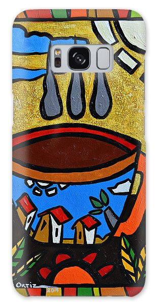 Galaxy Case featuring the painting Cafe Criollo  by Oscar Ortiz