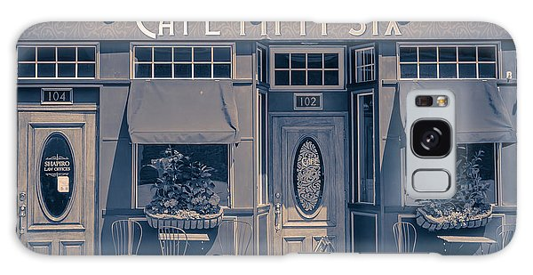 Street Cafe Galaxy Case - Cafe Fifty Six Middletown Connecticut by Edward Fielding