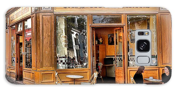 Street Cafe Galaxy Case - Cafe Montmartre by Olivier Le Queinec