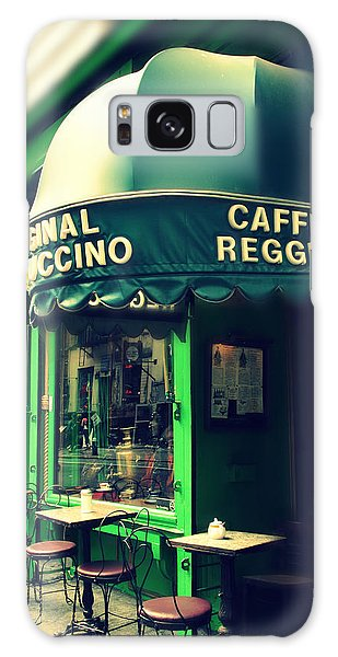 Street Cafe Galaxy Case - Caffe Reggio by Jessica Jenney