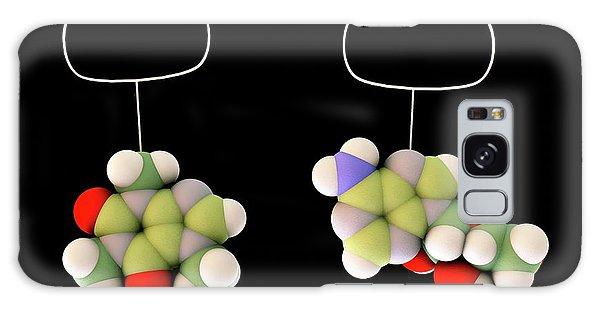 Molecular Biology Galaxy Case - Caffeine And Adenosine by Sci-comm Studios