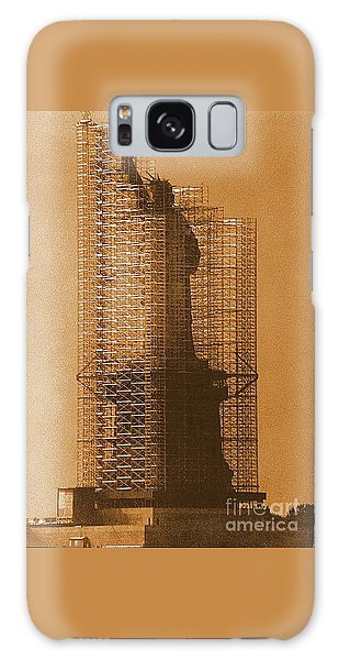 New York Lady Liberty Statue Of Liberty Caged Freedom Galaxy Case by Michael Hoard