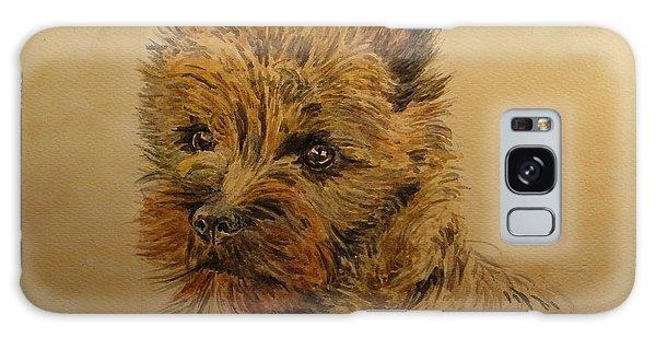 Watercolor Pet Portraits Galaxy Case - Cairn Terrier Dog by Juan  Bosco