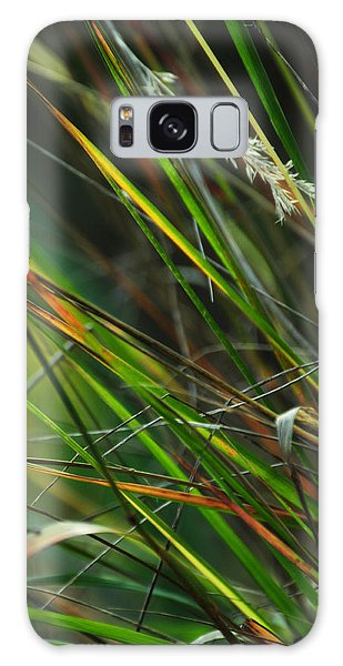 Calamagrostis Lines Galaxy Case