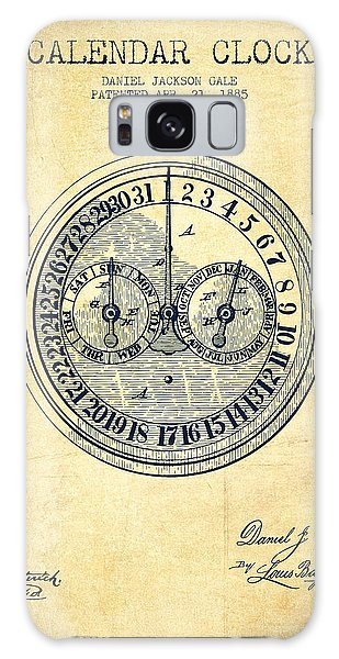 Calendar Galaxy Case - Calender Clock Patent From 1885 - Vintage by Aged Pixel