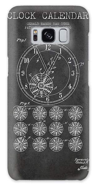 Calendar Galaxy Case - Calender Clock Patent From 1926 - Charcoal by Aged Pixel