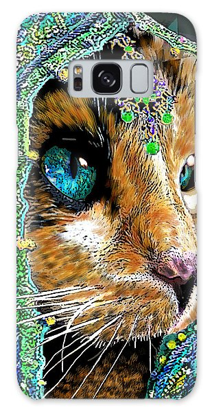 Calico Indian Bride Cats In Hats Galaxy Case