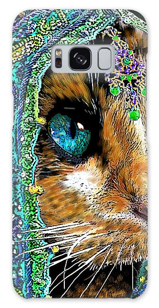 Calico Cat Galaxy Case - Calico Indian Bride Cats In Hats by Michele Avanti
