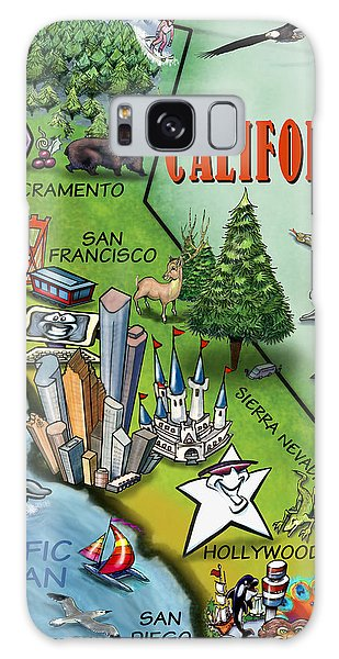 California Cartoon Map Galaxy Case by Kevin Middleton
