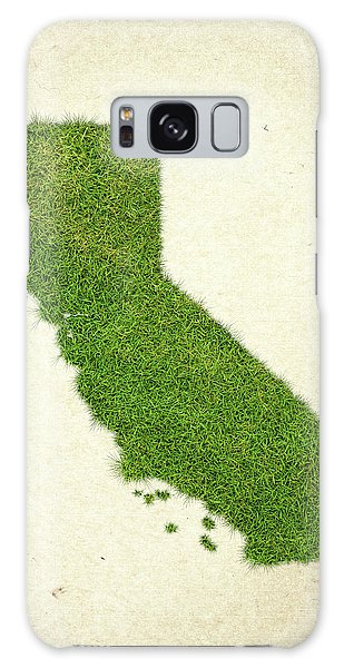 Usa Map Galaxy Case - California Grass Map by Aged Pixel